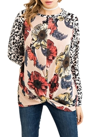 Entro Floral Leopard Top - Product Mini Image
