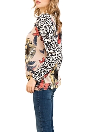 Entro Floral Leopard Top - Side cropped
