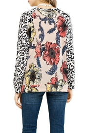 Entro Floral Leopard Top - Front full body