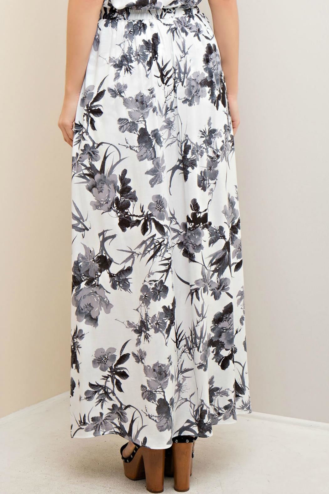 Entro Floral Maxi Short/Skirt - Front Full Image