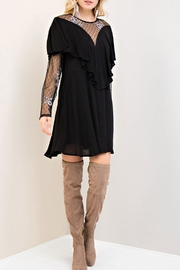 Entro Floral Mesh Dress - Front full body
