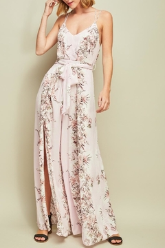 Shoptiques Product: Floral Open-Back Jumpsuit