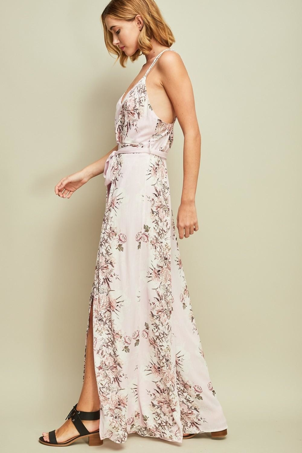 Entro Floral Open-Back Jumpsuit - Front Full Image