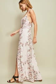 Entro Floral Open-Back Jumpsuit - Front full body