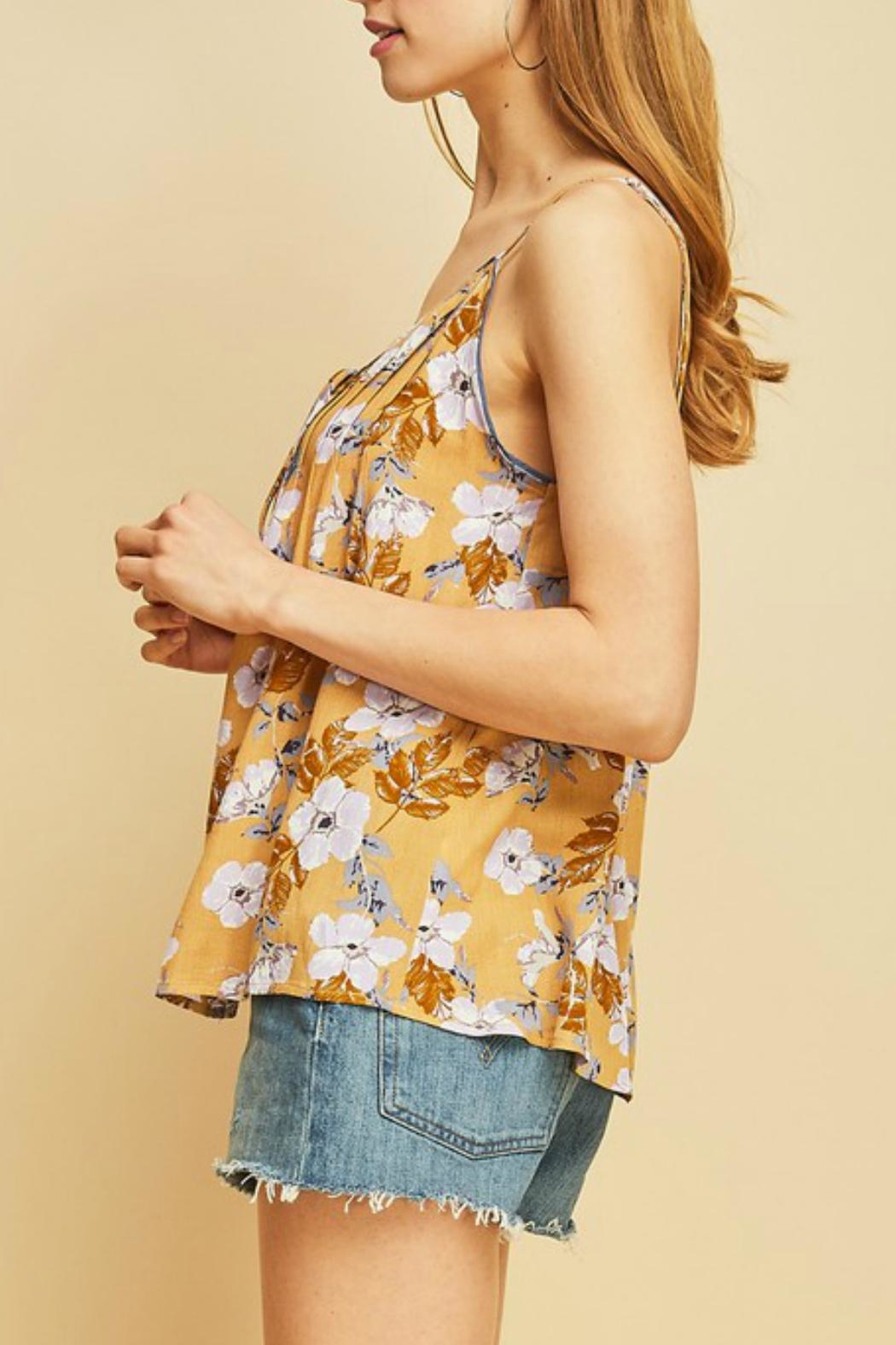Entro Floral Print Cami - Side Cropped Image
