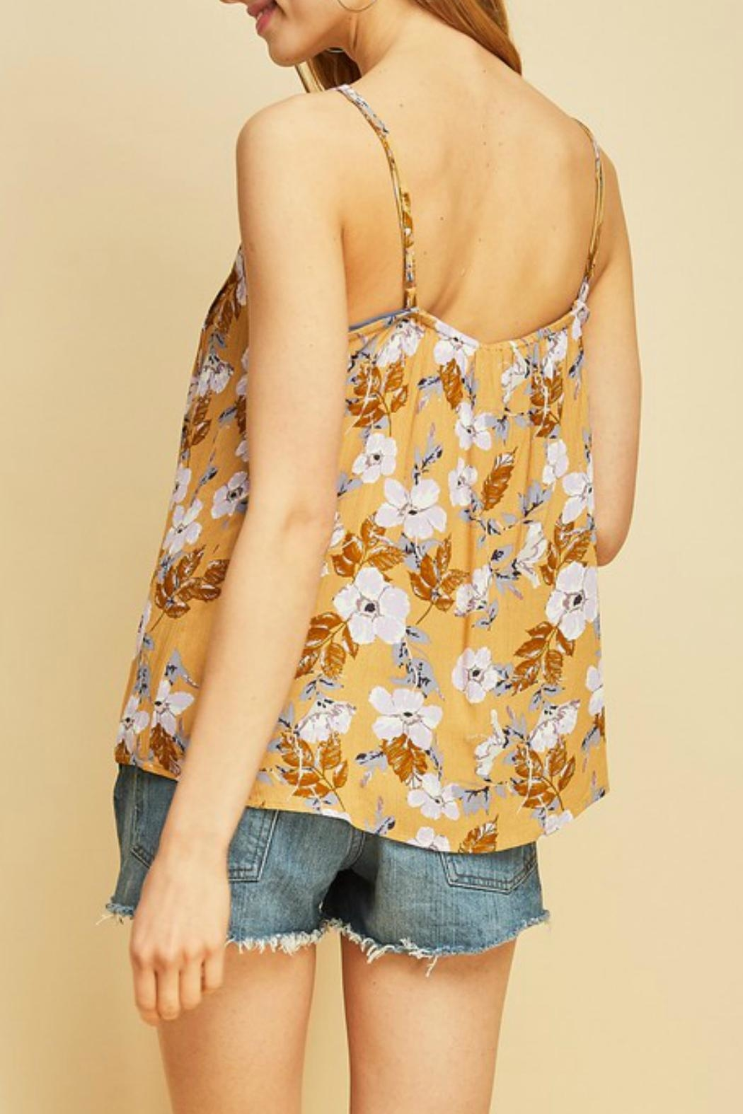 Entro Floral Print Cami - Back Cropped Image