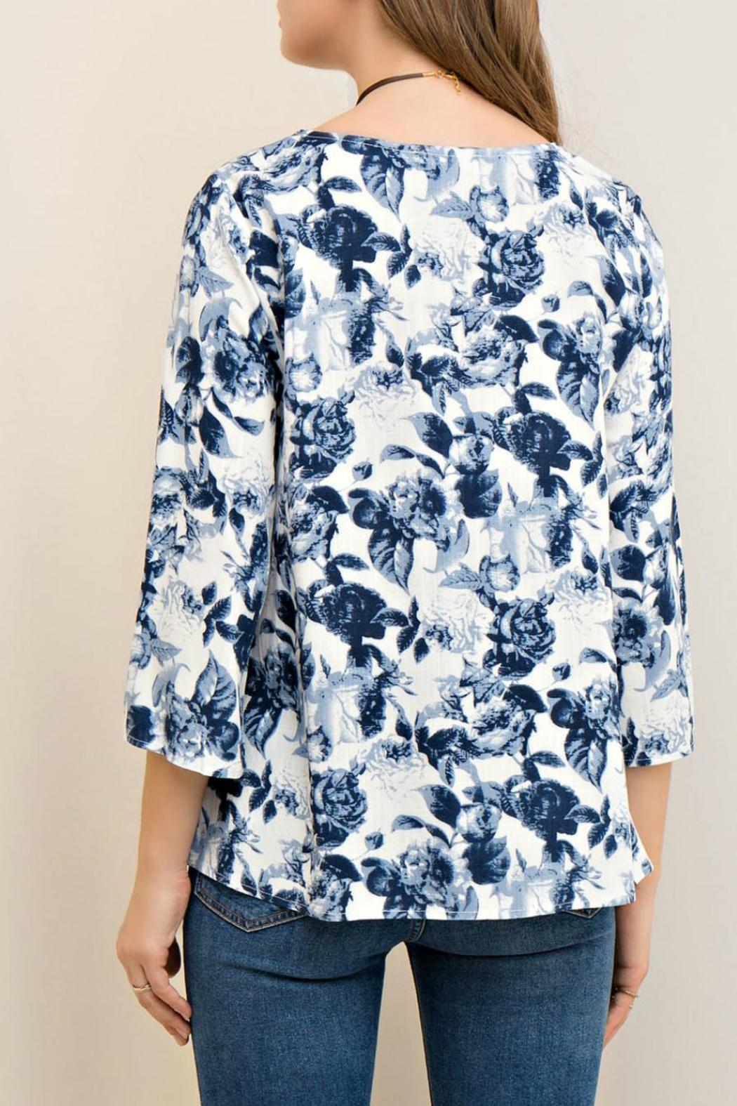 Entro Floral Print Cutout - Back Cropped Image