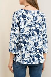 Entro Floral Print Cutout - Back cropped