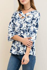 Entro Floral Print Cutout - Front cropped