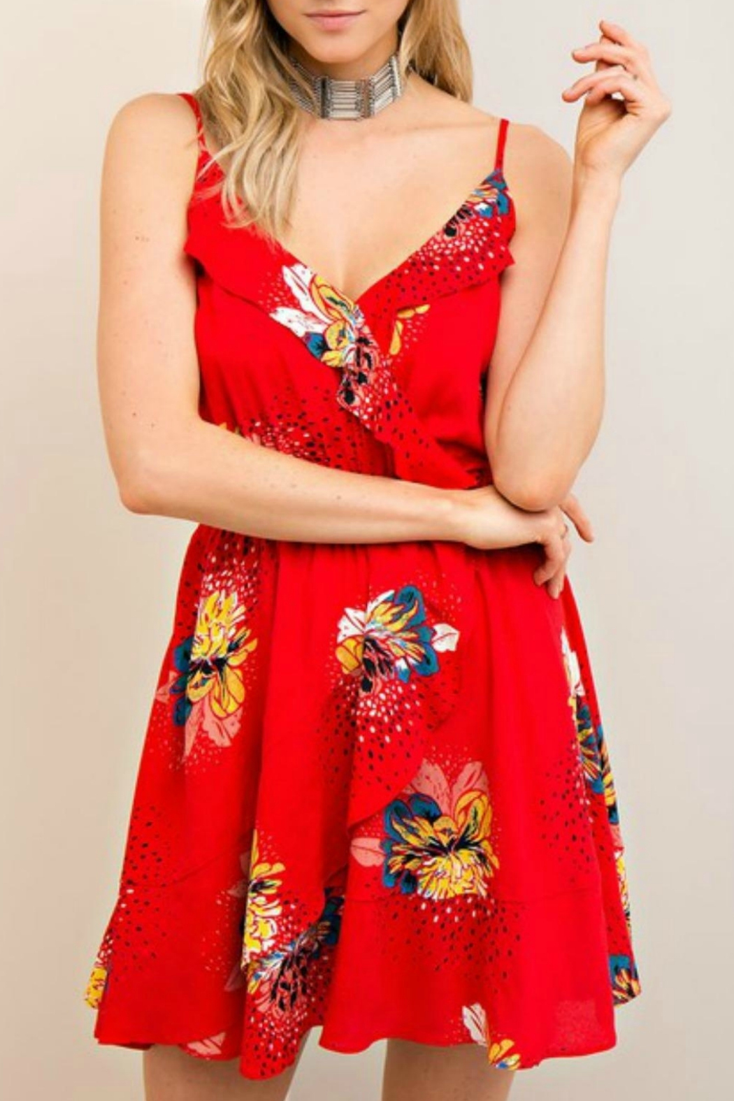 Entro Floral Print Dress - Main Image