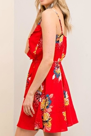 Entro Floral Print Dress - Front full body