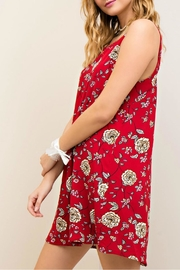 Entro Floral Print Dress - Back cropped
