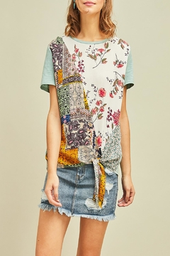 ... Entro Floral-Print Tie Top - Product List Placeholder Image f7228ee7d