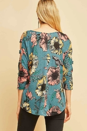 Entro Floral Print Top - Side cropped