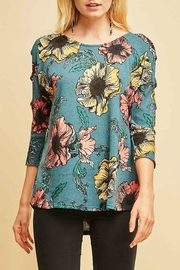Entro Floral Print Top - Front cropped