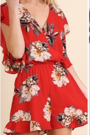 Entro Floral Red Romper - Product Mini Image