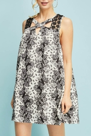 Entro Floral Sleeveless Dress - Front cropped