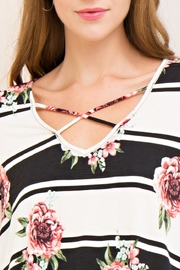 Entro Floral Striped Top - Other