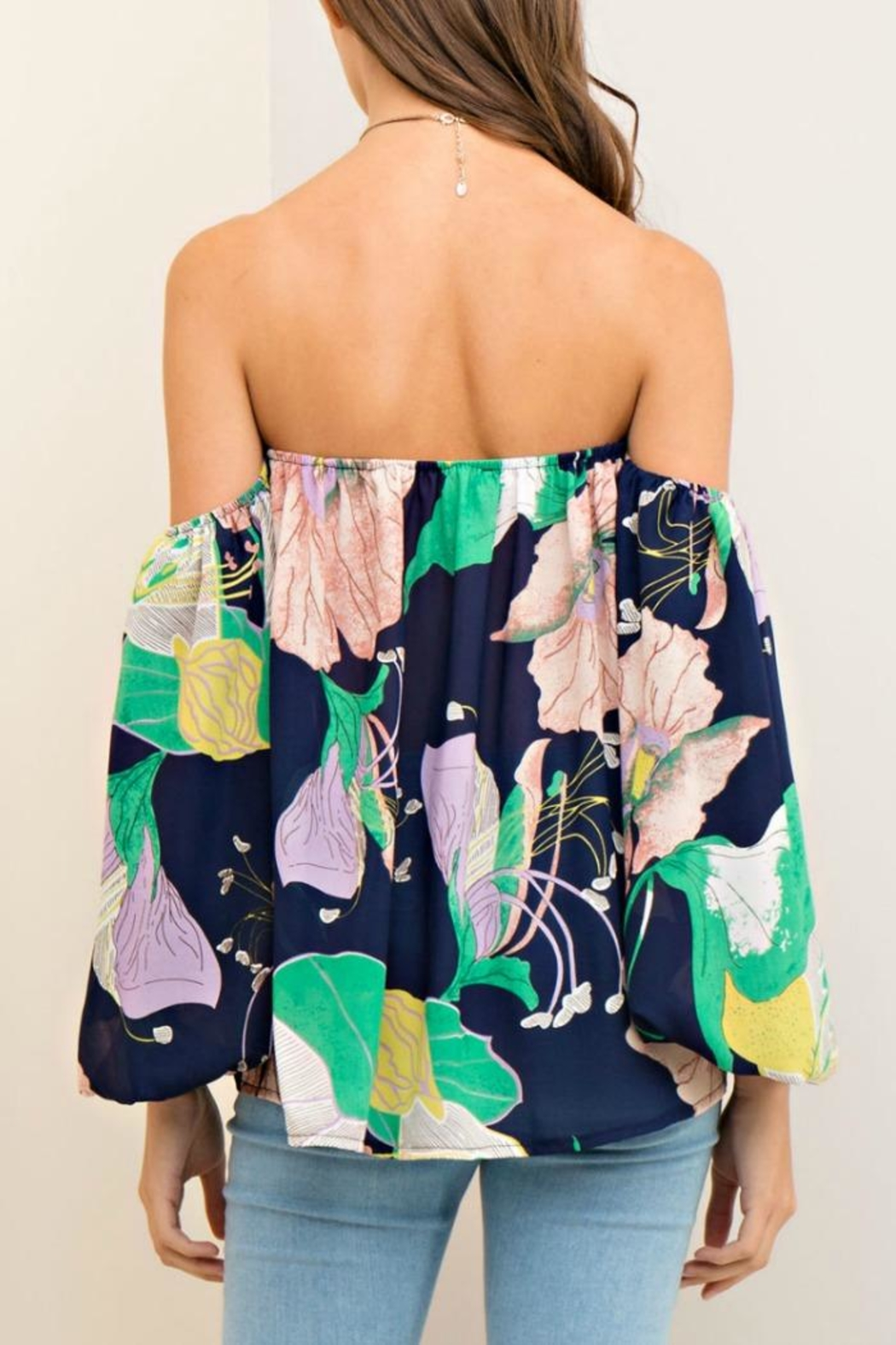 Entro Floral Support Top - Front Full Image