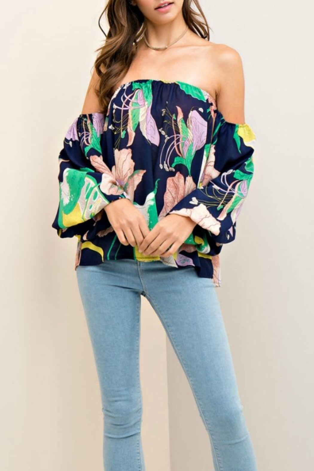 Entro Floral Support Top - Front Cropped Image