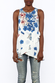 Entro Floral Print Sleeveless Top - Side cropped