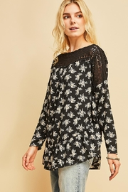 Entro Floral Top With Crochet Details - Product Mini Image