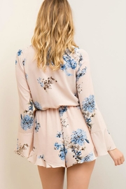 Entro Floral Wrap Romper - Side cropped