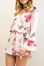 Entro Floral Wrap Romper - Front full body