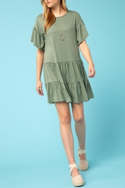 Entro Flounce Sleeve Dress - Product Mini Image