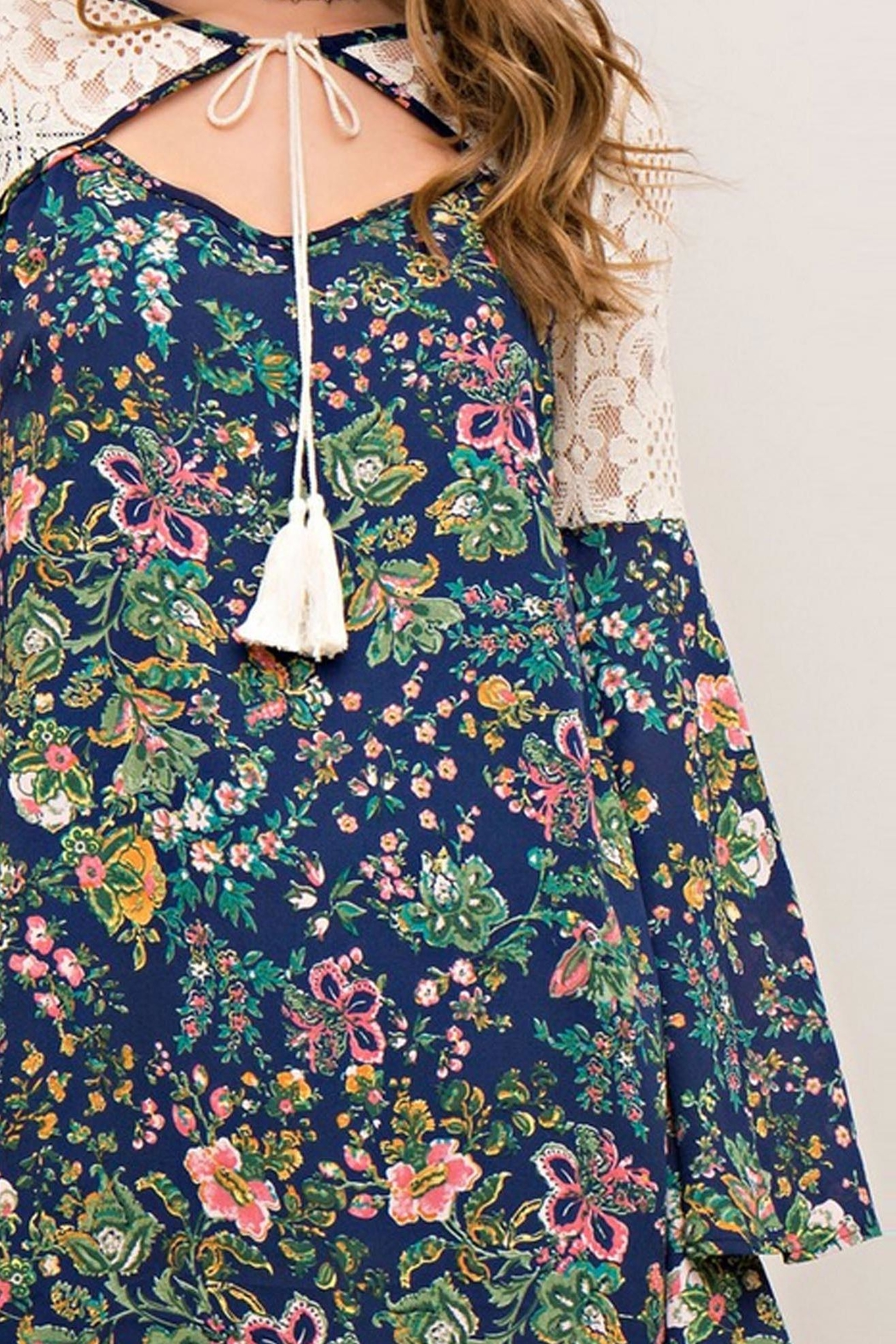 Entro Flower Child Dress - Back Cropped Image