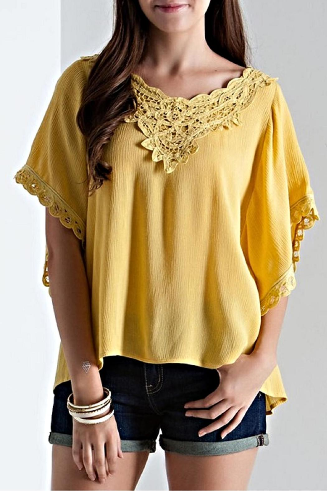 Entro Flyaway Sleeve Blouse - Back Cropped Image