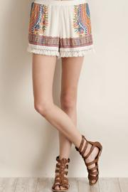 Entro Fringe Hem Shorts - Product Mini Image