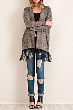 Entro Fringed Open Cardigan - Product List Image