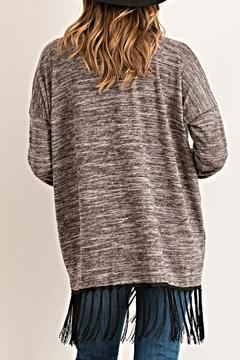 Entro Fringed Open Cardigan - Alternate List Image