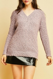 Entro Fuzzy V-Neck Sweater - Product Mini Image