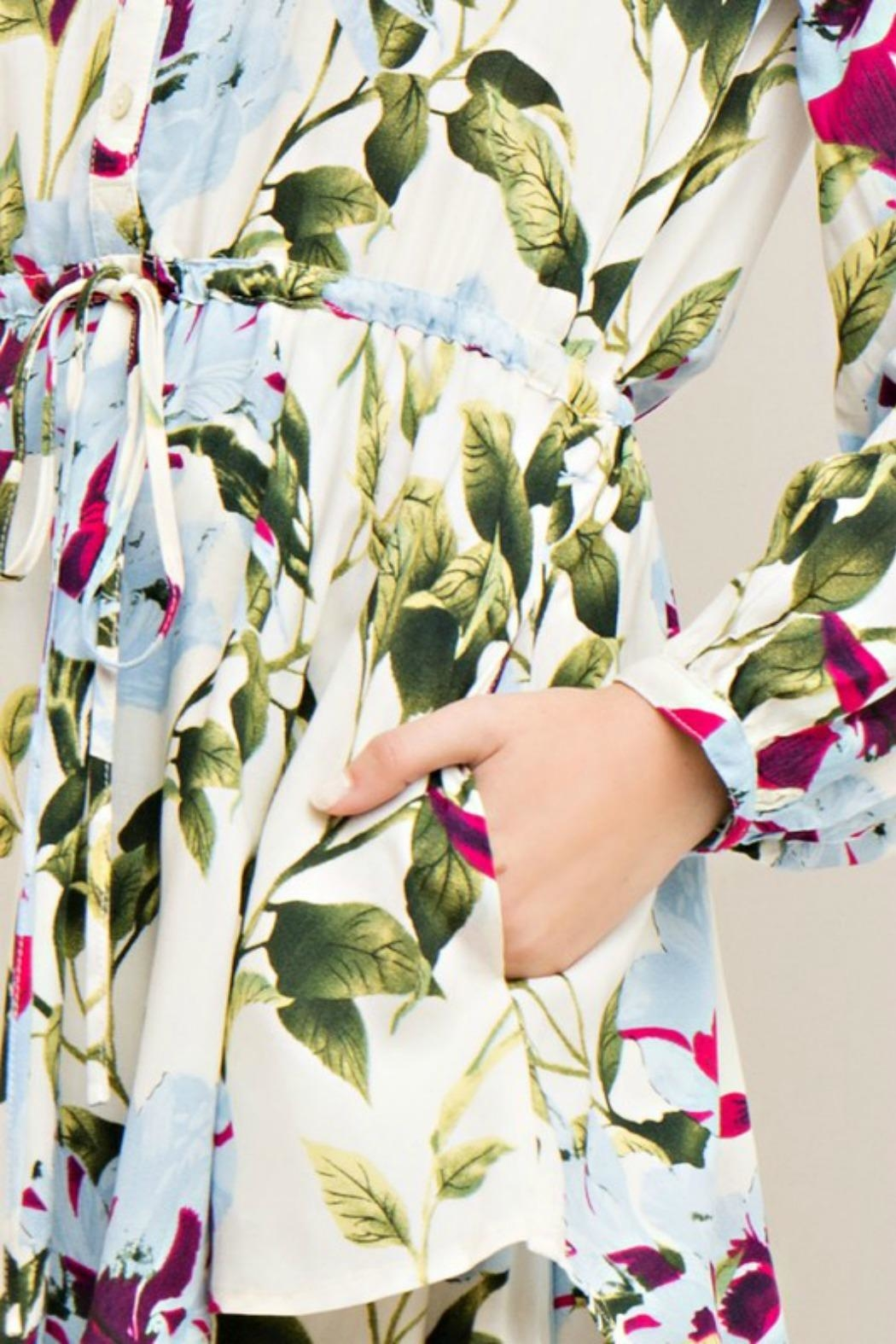 Entro Garden Wrap Dress - Front Full Image