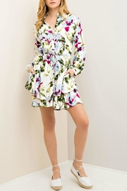 Entro Garden Wrap Dress - Front cropped