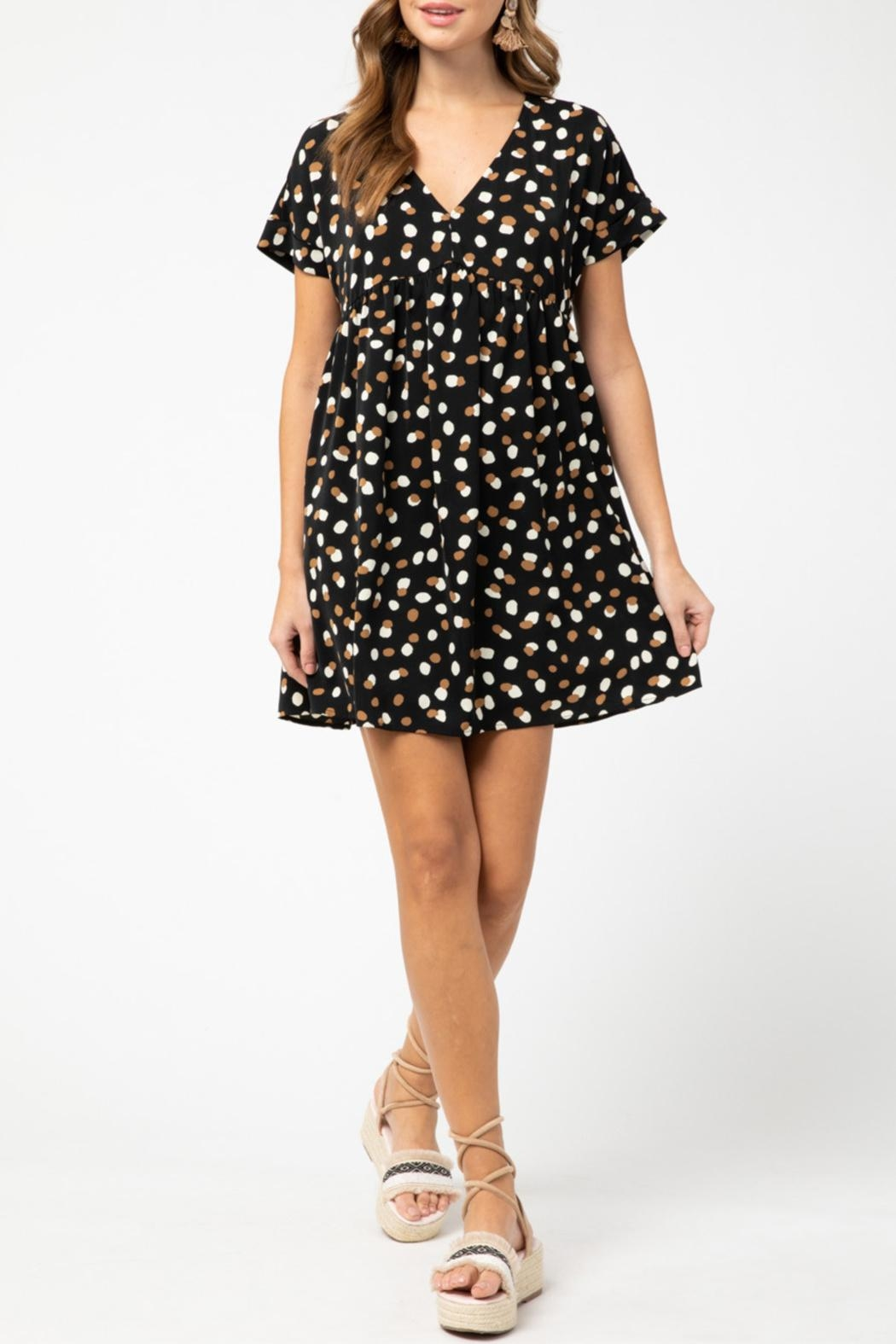 Entro Geometric Print Dress - Main Image