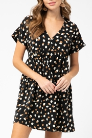 Entro Geometric Print Dress - Front full body