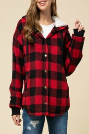 Entro Gingham Print Jacket - Product Mini Image