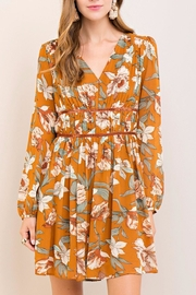 Entro Golden Floral Dress - Product Mini Image