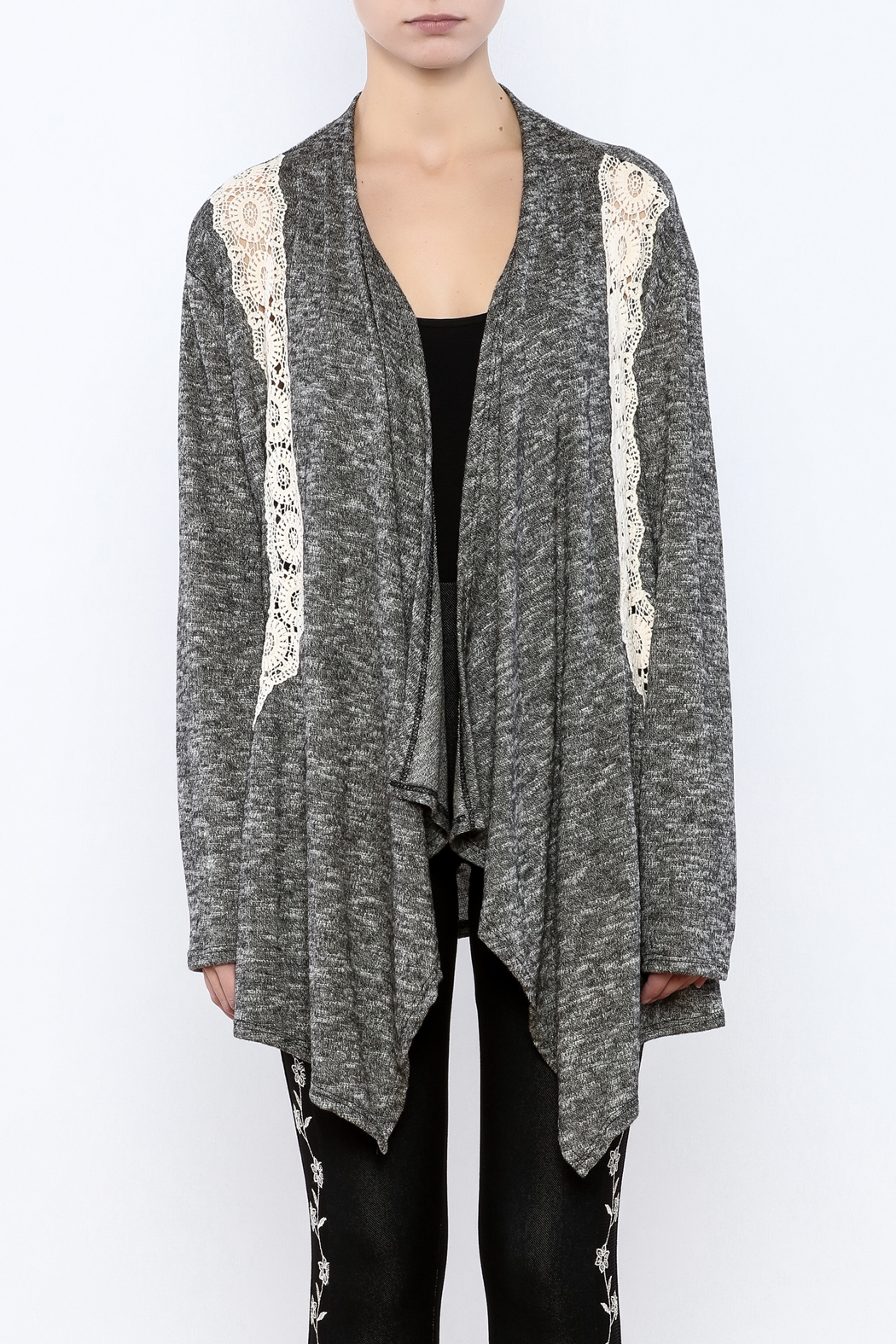 Entro Grey Lace Cardigan from Minnesota by Bela Va Boutique ...