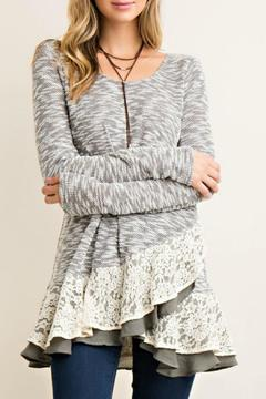 Shoptiques Product: Grey Lacey Tunic