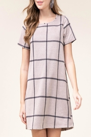Entro Grid Print Dress - Product Mini Image