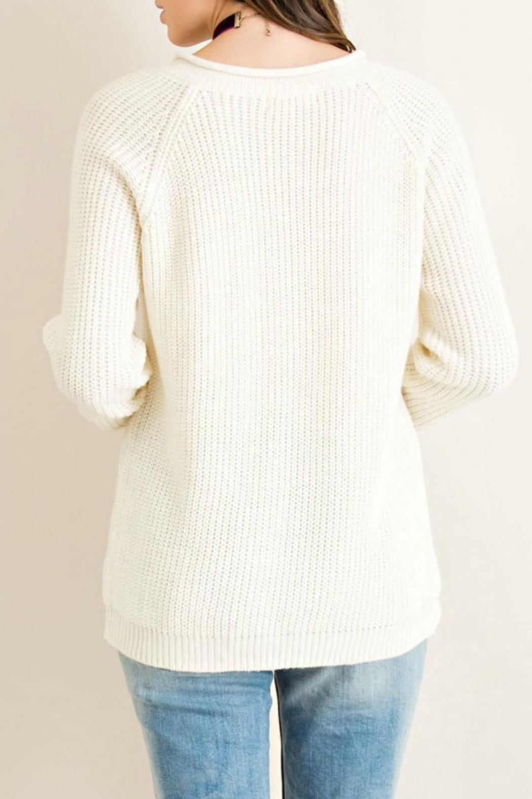 Entro Grommett Lace Sweater - Front Full Image