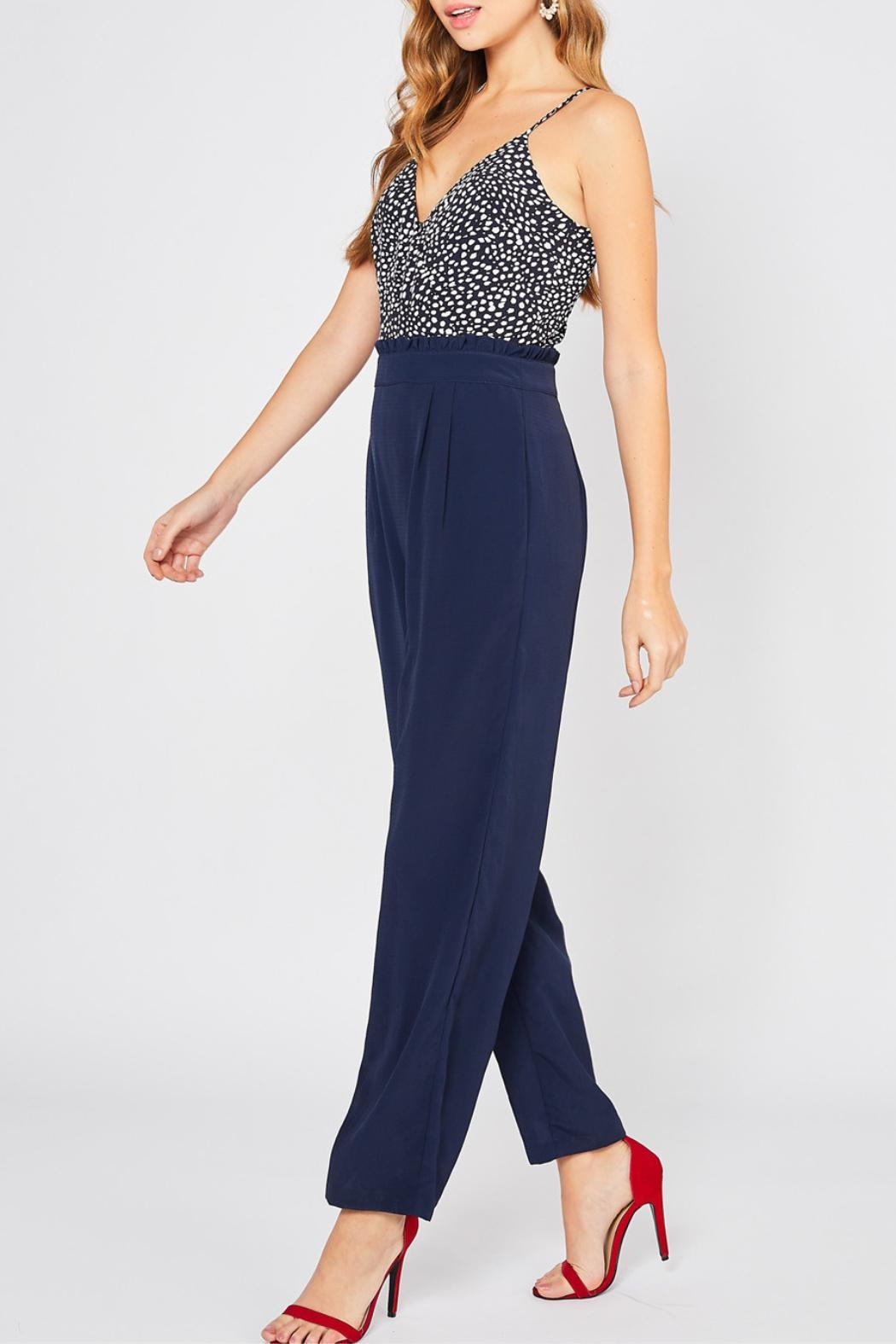 Entro High Waisted Jumpsuit - Side Cropped Image