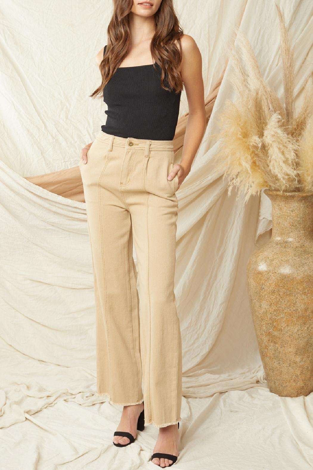 Entro High Waisted Wide Leg Denim - Front Cropped Image