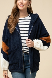 Entro Hooded Teddy Jacket - Front full body