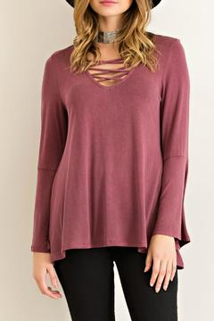 Shoptiques Product: Jersey Lace Up Top
