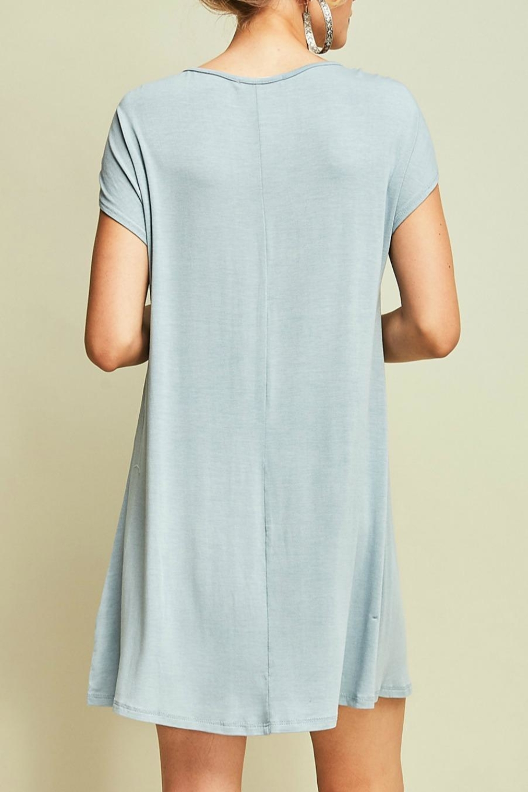 Entro Jersey Shift Dress - Side Cropped Image